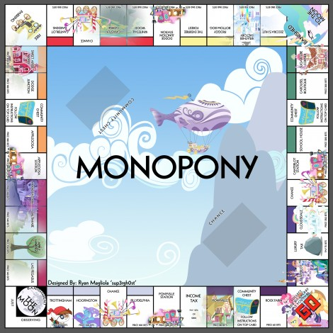 monopoly homemade board games my little pony