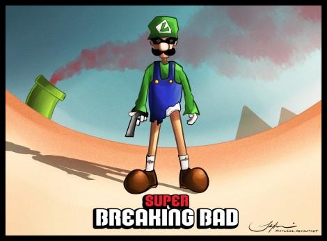 breaking bad mashup super mario brothers bros luigi