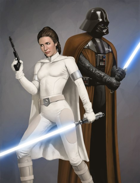 anakin skywalker darth vader jedi master princess leia star wars what if