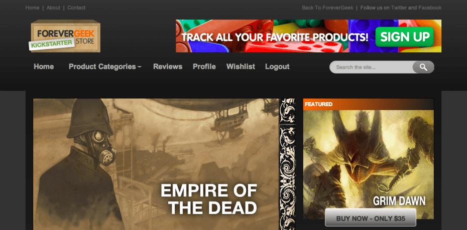 ForeverGeek Kickstarter Store