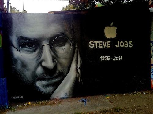 Geek graffiti honoring Apple founder, Steve Jobs