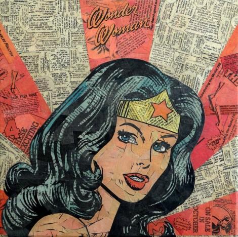 Comic Collage - Wonder Woman