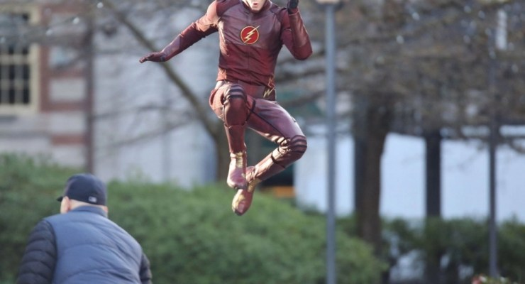 Grant Gustin in Flash Costume - featured