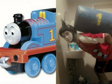 Low cost Cosplay - Thomas the Tank Engine