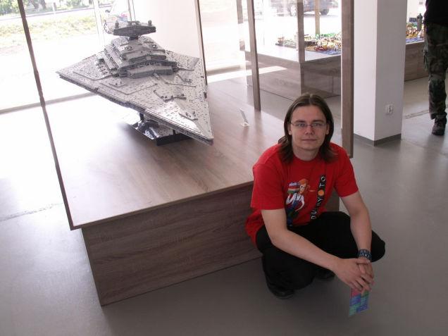 LEGO Imperial Star Destroyer on display