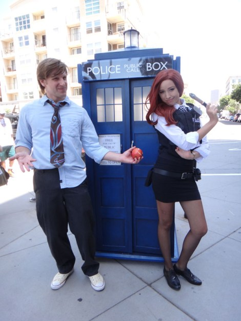 SDCC 214 - Doctor Who, Amy Pond, and the TARDIS