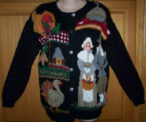 thanksgiving sweater ugly