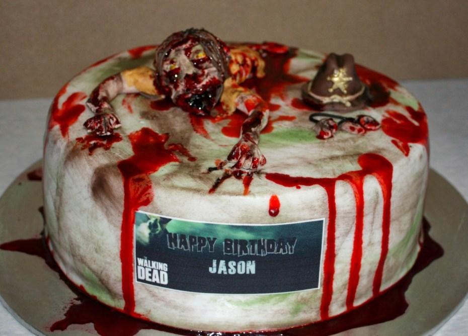 gross walking dead cakes
