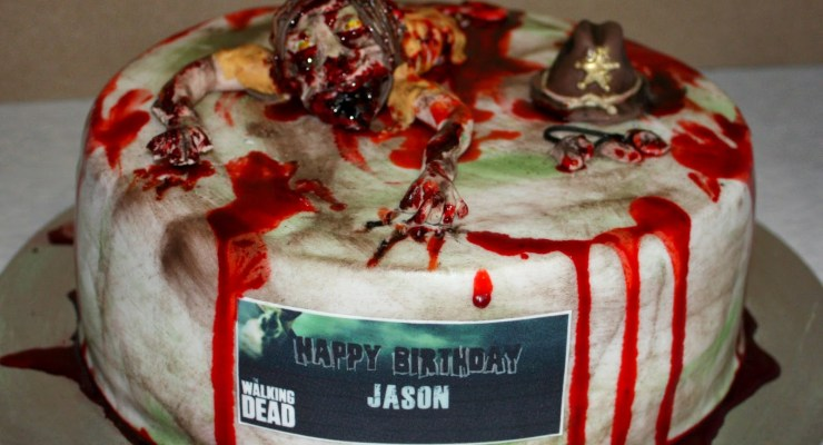 gross walking dead cakes