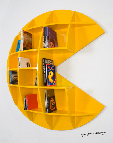 geeky bookshelves