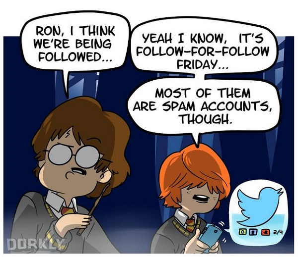 harry potter social media
