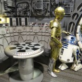 Star Wars Celebration Anaheim - R2 and 3PO on the Falcon