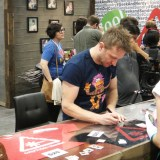WonderCon Anaheim 2015 Chris Hardwick signing at the Nerdist booth