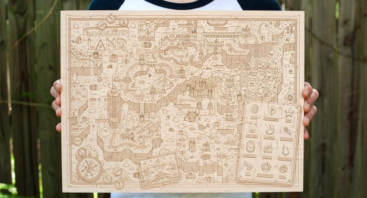 Super Mario Dinosaur Land Wood Map