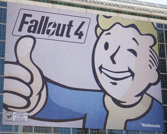 E3 2015 Fallout 4 press event videos