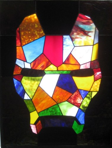 Iron Man Stained Glass Mosaic