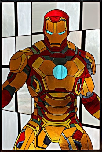 Iron Man stained glass 2