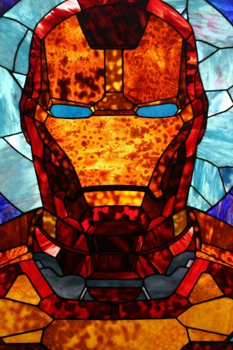 Iron Man stained glass