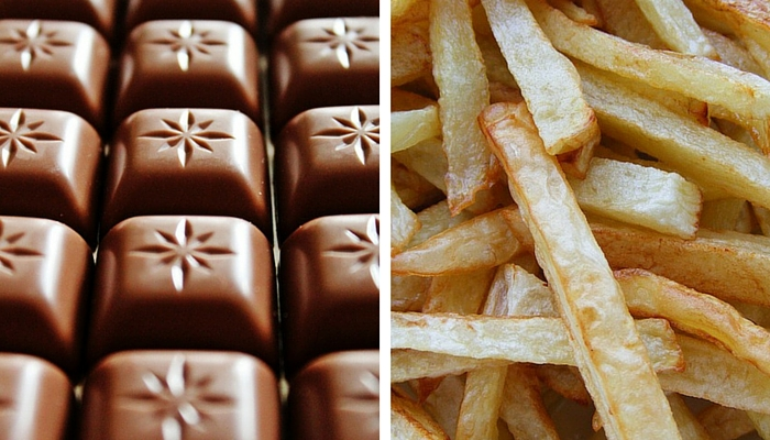 chocolate covered french fries