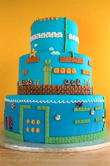 awesome super mario cakes