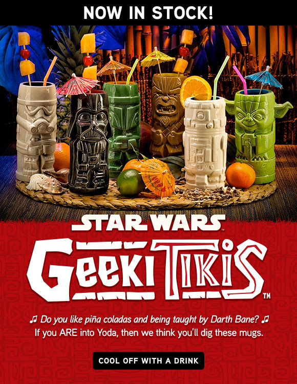 Star Wars Geek Tiki Themed Stuff Now Available At Thinkgeek