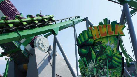 The Incredible Hulk Coaster at Islands of Adventure's Marvel Super Hero Island.