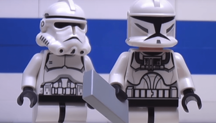 Lego Star Wars Clones Play Pokemon GO