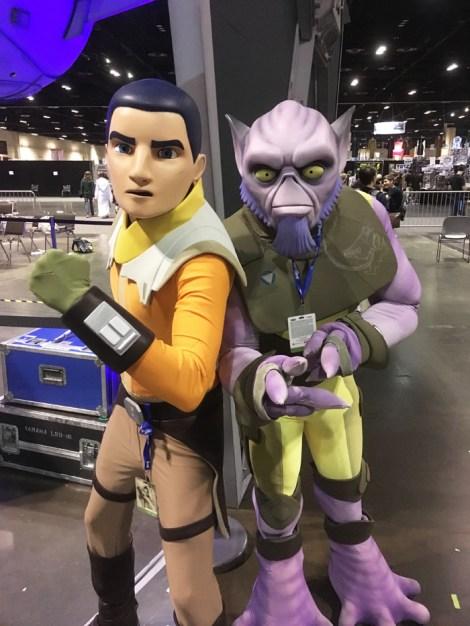 Star Wars Celebration Orlando 2017 - Rebels Ezra and Zeb