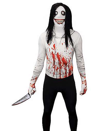 de9db7f489ce8 Now this, my friends and fellow fiends is one helluva scary Halloween  Costume. Based on in the internet legend of Jeff the Killer, who would have  thought a ...