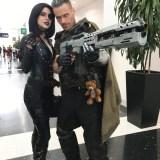 Comic-Con Revolution cosplay - Domino and Cable