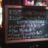 The Nerd Bar Las Vegas - drink list