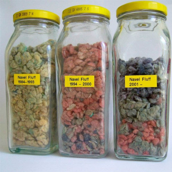 belly button lint jars