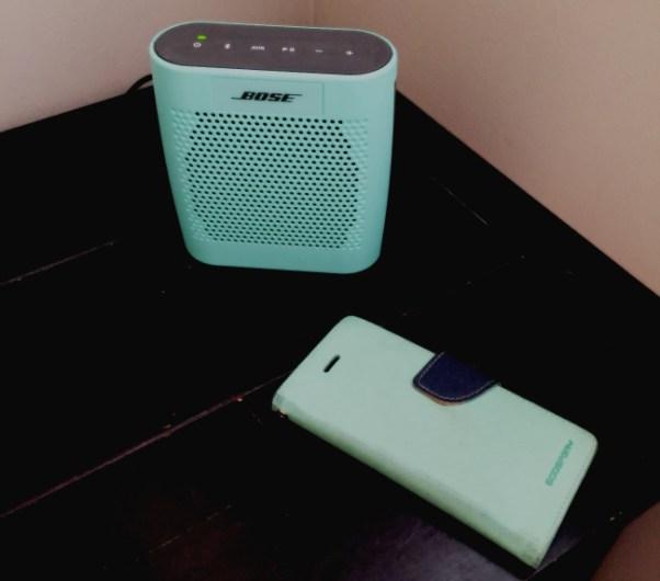 bose mint green speaker
