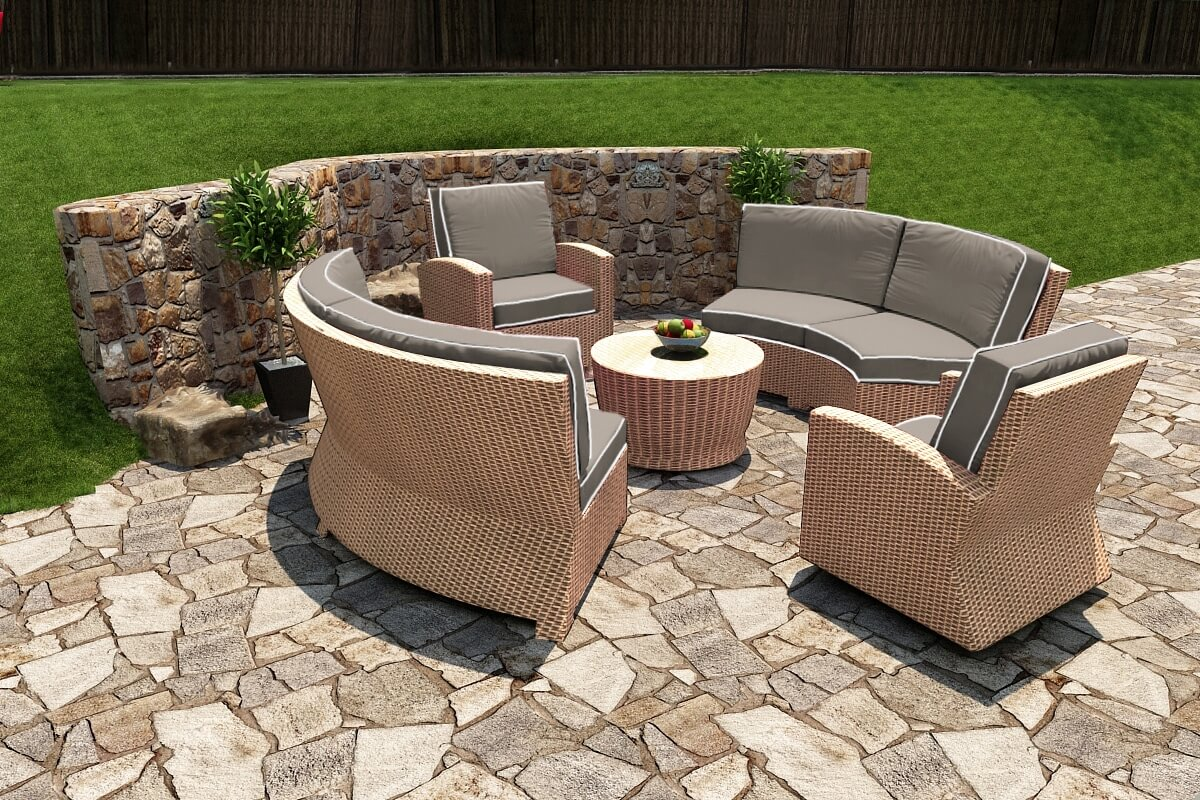 5 Piece Barbados Sectional Set - Forever Patio on 5 Piece Sectional Patio Set id=13839