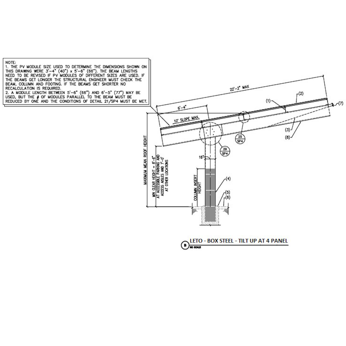 Orion Leto Double Column Single Cantilever Carport