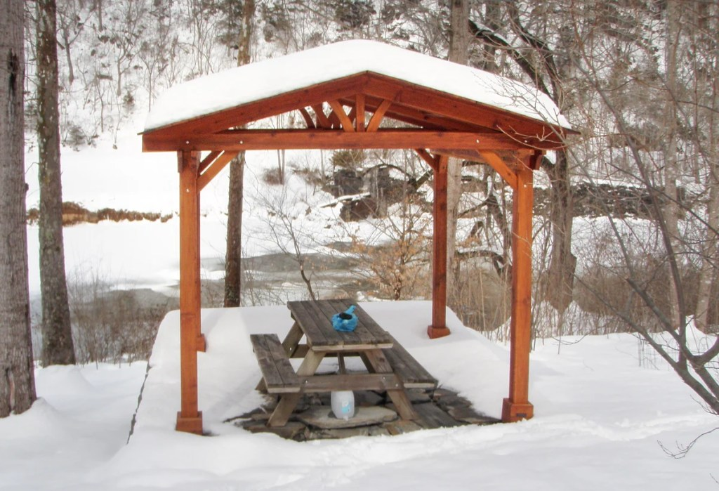 Pavilions can be placed just about anywhere… how about out in the woods?