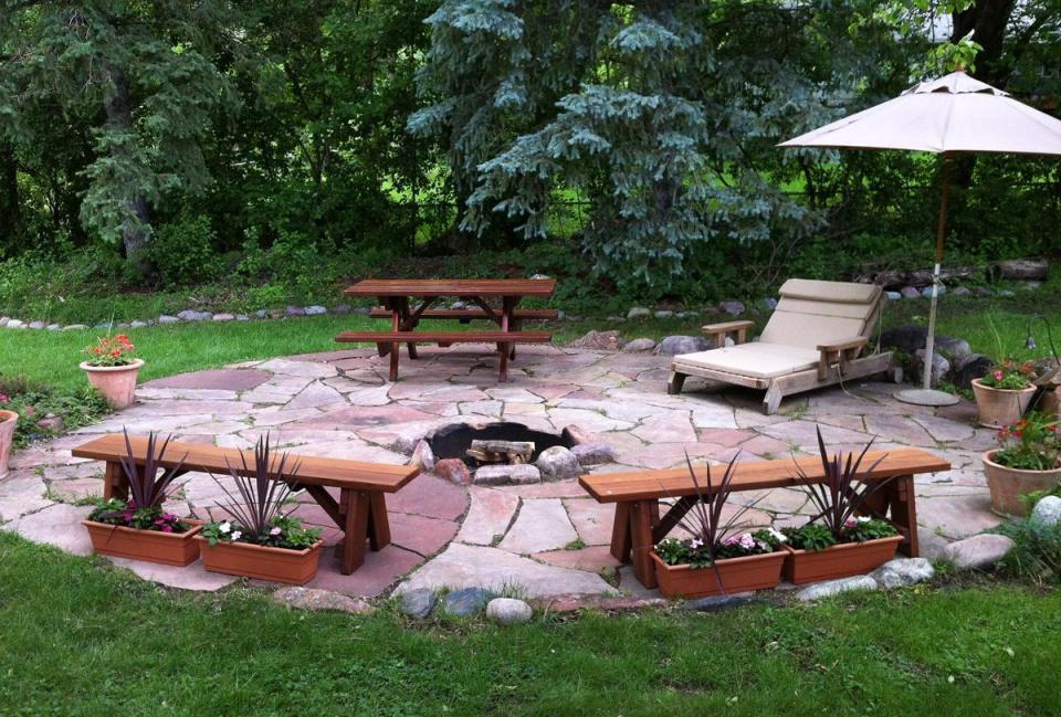 garden view redwood patio furniture