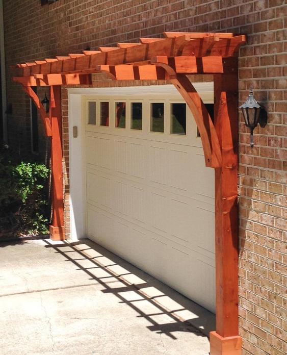 redwood arbor kit garage