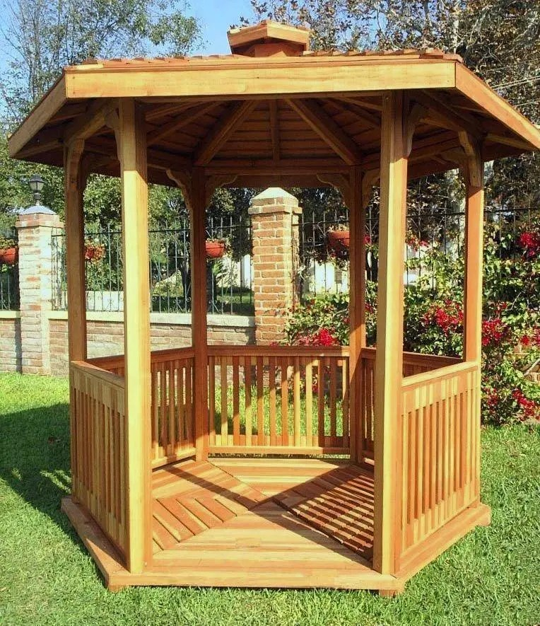 Redwood patio pavilion kit ideas that will add some life to your garden