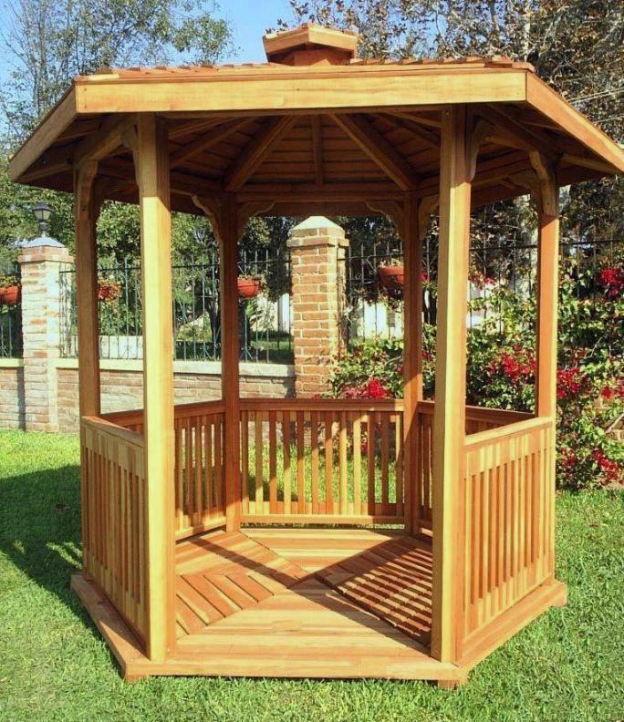 redwood patio pavilion kit