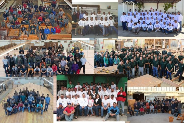 Forever Redwood woodworkers, engineers, and administrative staff over the years