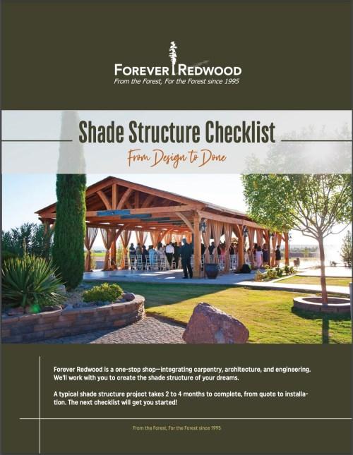 Shade Structure Checklist