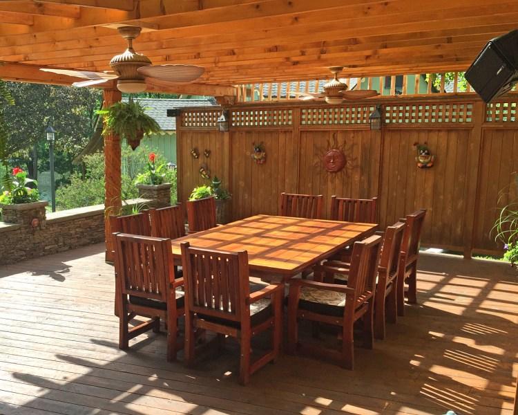 San Francisco Redwood Patio Table