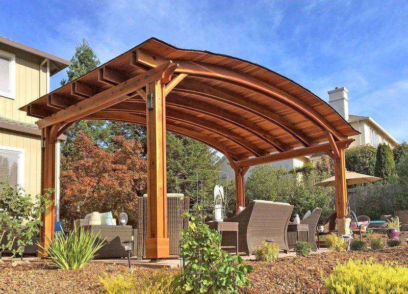 backyard pavilion kits custom redwood