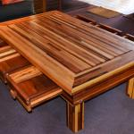 Oversized Coffee Table Extra Large Solid Redwood Table