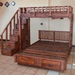 The Stairway Wooden Bunk Beds Forever Redwood