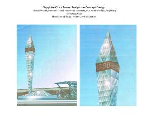 Sapphire clock tower concept
