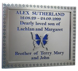 stainless steel reflective plaque