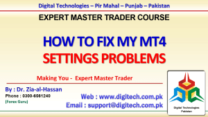 How To Fix MT4 Settings Problems In Urdu Hindi