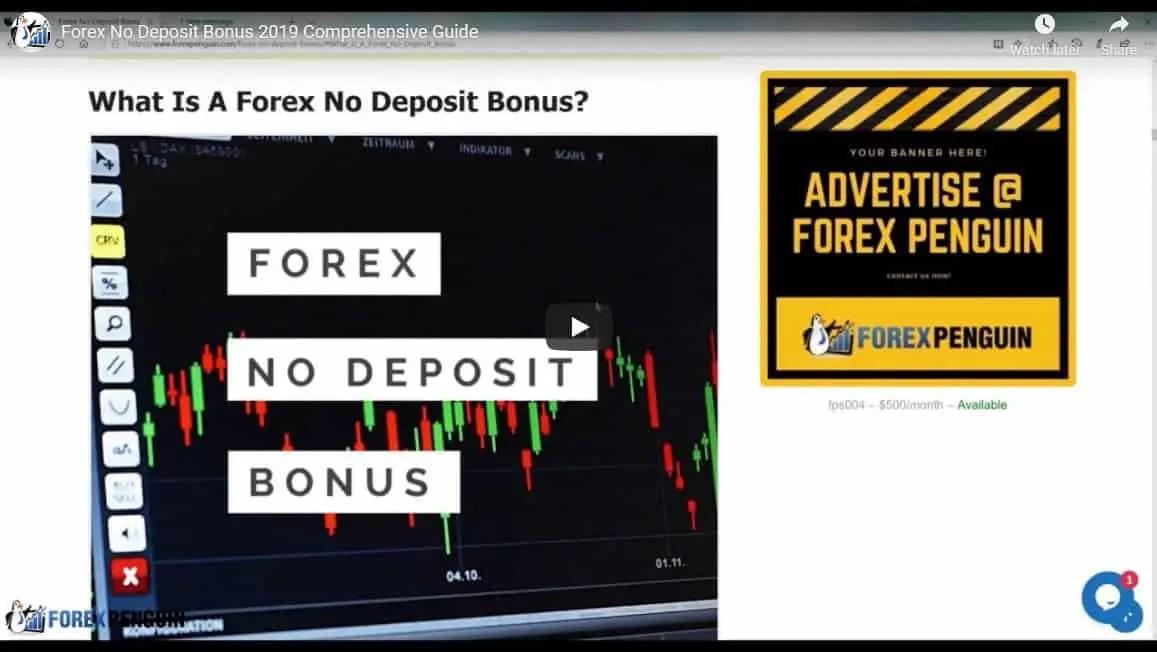 No deposit forex bonus latest 2019